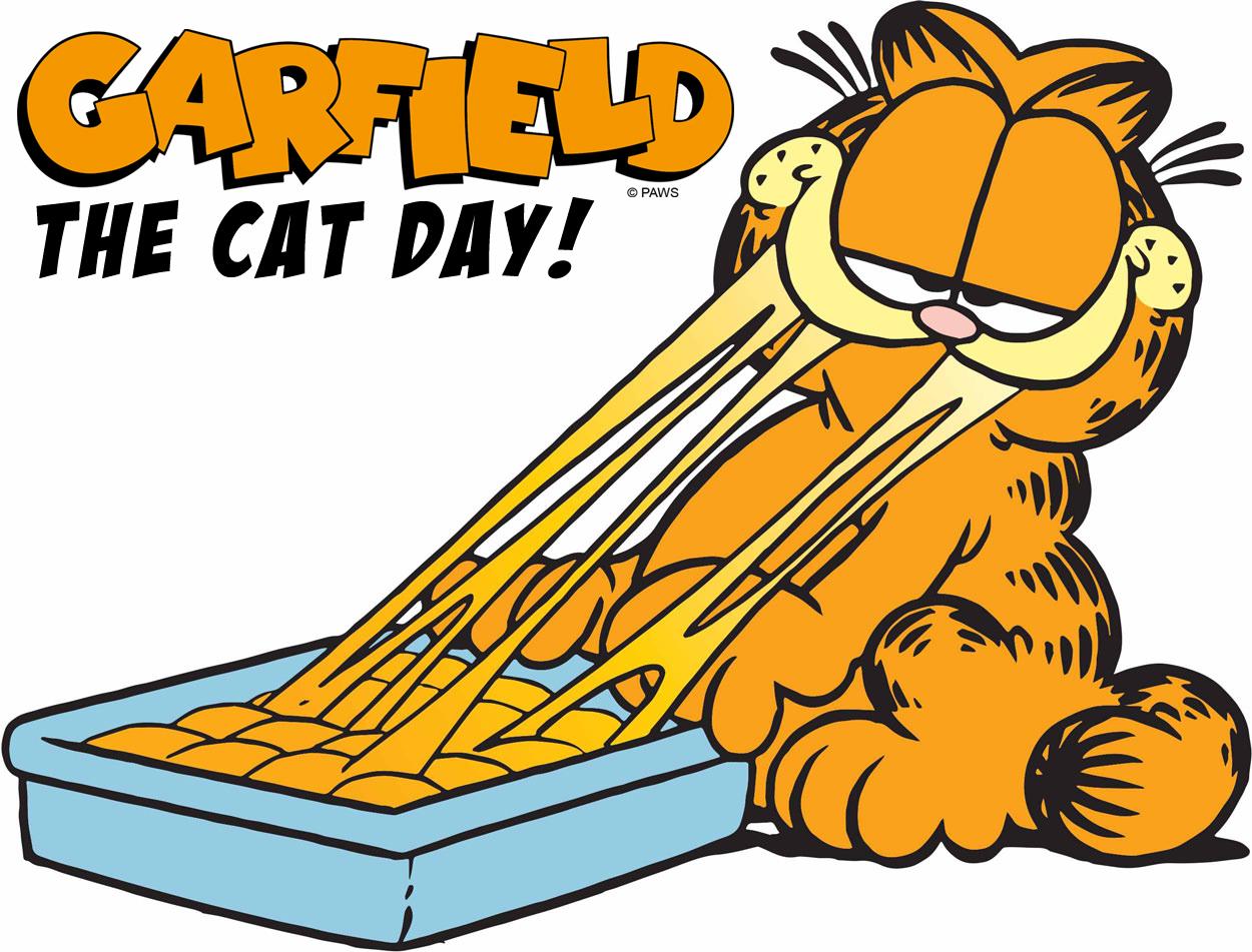 Garfield the Cat Day - Garfield eating lasagna