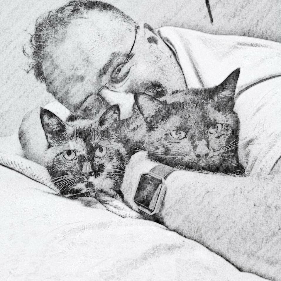 Daddy Hooman with Lilly Bug & Joel the Brave