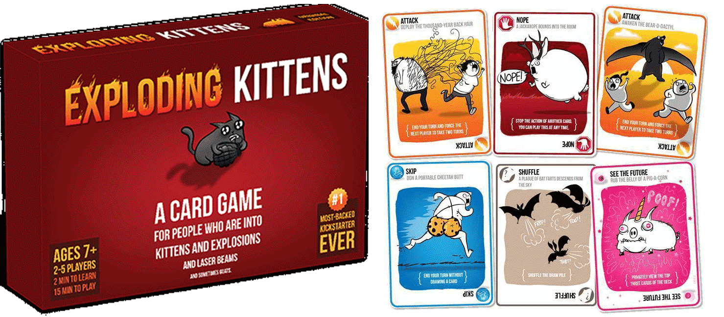 Exploding Kittens - No! No real cats are exploding! This is just a card game of skill.  #ExplodingKittens