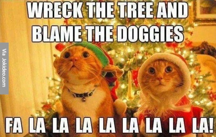 Wreck the Tree and Blame the Doggies Fa la la la la la