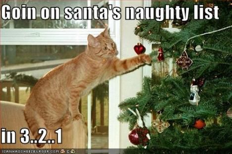Going on Santa's Naughty List in 3 ... 2... 1